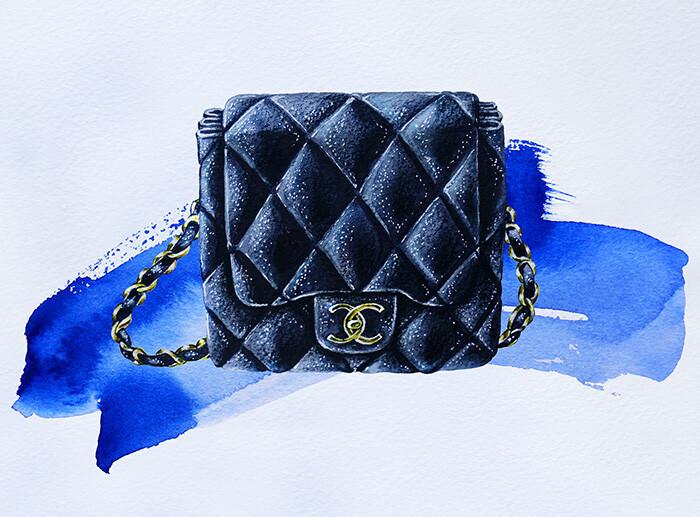 16fda159db0e ... преподаватель Школы Рисования Вероники Калачевой, графический дизайнер  и fashion-иллюстратор, научит всех желающих рисовать стеганую сумочку CHANEL .